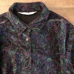 Vintage Velvet Patterned Shirt